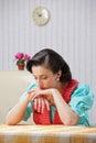 Housewife sad Royalty Free Stock Photo
