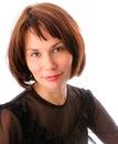 Portrait der jungen Frau im Schwarzen Lizenzfreie Stockfotos
