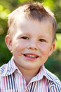 Portrait of a disheveled kid Royalty Free Stock Photo