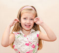 Portrait of disobedient little girl crying Royalty Free Stock Photo