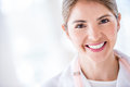 Portrait of a doctor smiling female at the hospital Royalty Free Stock Photo