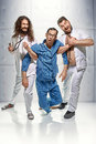 Portrait of doctors and lunatic in the madhouse Royalty Free Stock Photo