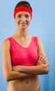 Portrait eines sportlichen Mädchens Lizenzfreie Stockfotos