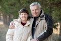 Portrait of elder couple Royalty Free Stock Photo