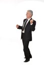 Portrait of an elderly businessman happy on a white background Stock Image