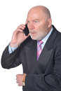 Portrait of Elderly  businessman Royalty Free Stock Photo