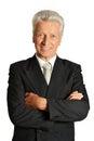 Portrait of an elderly businessman Royalty Free Stock Photo