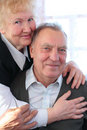 Portrait of elderly pair Stock Image
