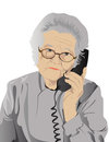 Portrait of elderly woman Royalty Free Stock Photo