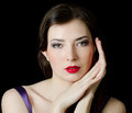 Portrait  elegant girl with an evening make-up Royalty Free Stock Photography