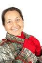 Portrait of elegant senior lady Stock Photo