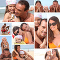 Portrait of a family in collage form Royalty Free Stock Image