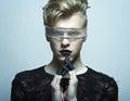 Portrait of fashion male model Royalty Free Stock Photo