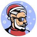 Portrait of a Fashionable Santa Claus - Hipster