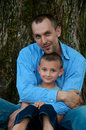 Portrait of father and son Royalty Free Stock Photo
