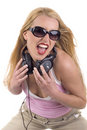 Portrait of a female DJ Royalty Free Stock Photo