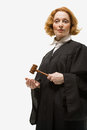 Portrait of a female judge Royalty Free Stock Photo