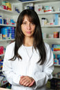 Portrait of a female pharmacist Royalty Free Stock Images