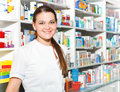Portrait of female pharmacist Royalty Free Stock Photo