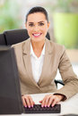 Portrait female secretary office typing Royalty Free Stock Images