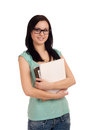 Portrait of female student with books. Royalty Free Stock Photography