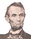 Portrait of first U.S. president Abraham Lincoln Royalty Free Stock Photo