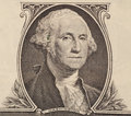 Portrait of first U.S. president George Washington Royalty Free Stock Photo