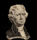 Portrait of first U.S. president Thomas Jefferson Royalty Free Stock Photo