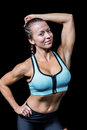 Portrait of fit smiling woman Royalty Free Stock Photo