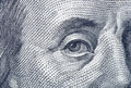 Portrait fragment of Benjamin Franklin Stock Photography