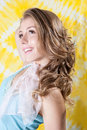 Portrait of a fresh and lovely woman Royalty Free Stock Photo
