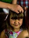 Portrait of funny lovely little girl Royalty Free Stock Photo