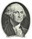 Portrait of George Washington Royalty Free Stock Photo