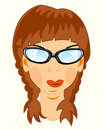 Portrait of the girl bespectacled