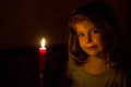 Portrait of the girl with a candle Royalty Free Stock Photo