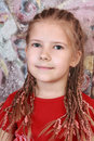 Portrait of a girl with dreadlocks Royalty Free Stock Images