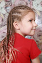 Portrait of a girl with dreadlocks Stock Photos