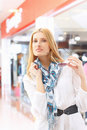 Portrait of girl in the shop Royalty Free Stock Images