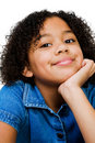 Portrait Of Girl Smirking Royalty Free Stock Photography