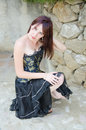 Goth beauty Royalty Free Stock Photo