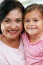 Portrait Of Grandmother With Granddaughter Royalty Free Stock Image