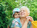 Portrait of grandmother and grandson Royalty Free Stock Photography