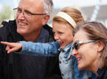 Portrait of grandparents with granddaughter Royalty Free Stock Image