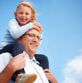 Portrait of grandparents with granddaughter Royalty Free Stock Photography