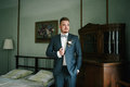 Portrait of the groom Royalty Free Stock Photo