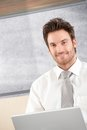 Portrait of handsome businessman smiling Royalty Free Stock Photo