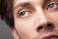 Portrait of a handsome man close up eye beautiful Stock Image