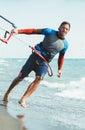 Portrait of handsome man kitesurfer Royalty Free Stock Photo