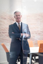 Portrait of handsome senior business man at modern office Royalty Free Stock Photo