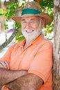 Portrait of Handsome Senior Man Royalty Free Stock Photo